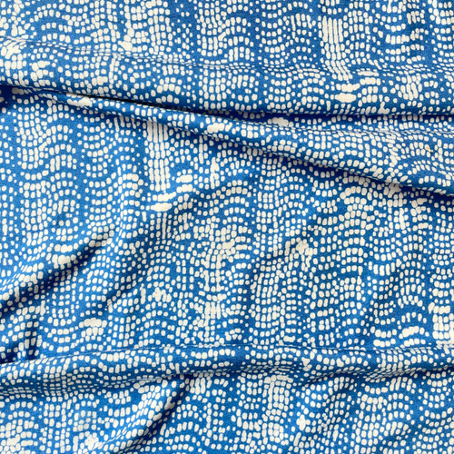 Pitter Patter Viscose Jersey in Blue