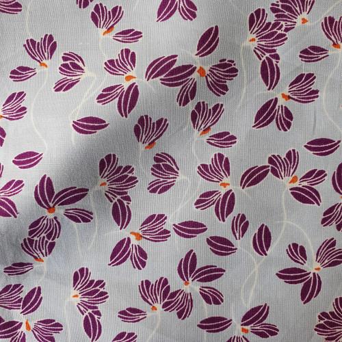 Viola Floral Viscose in Grey