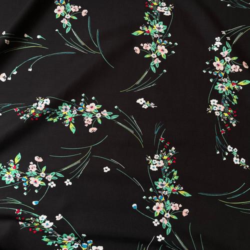 Bryony Floral Viscose in Black