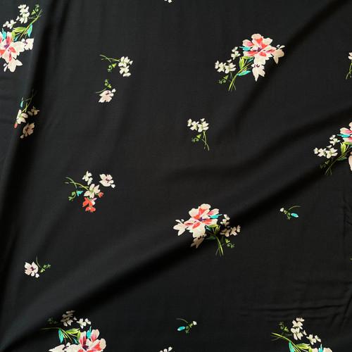 Bonnie Floral Viscose in Black
