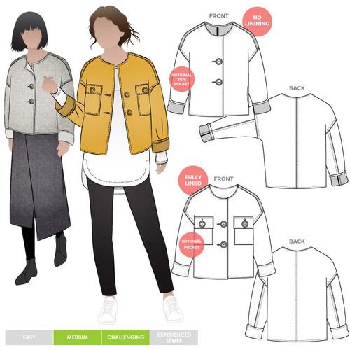 Adelaide Woven Jacket Size 18-30 (UK 20-32)