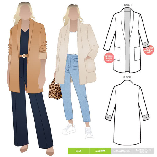Loren Jacket Pattern Size 4-16 (UK 6-18)