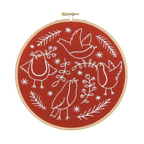 Red Robins Embroidery Kit