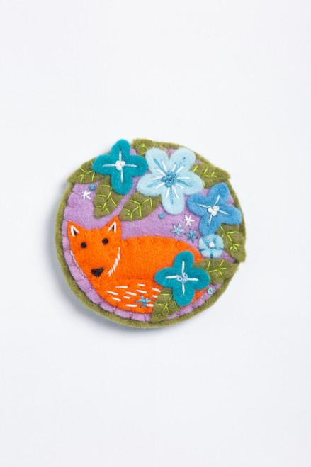 Fox Felt Craft Brooch Kit