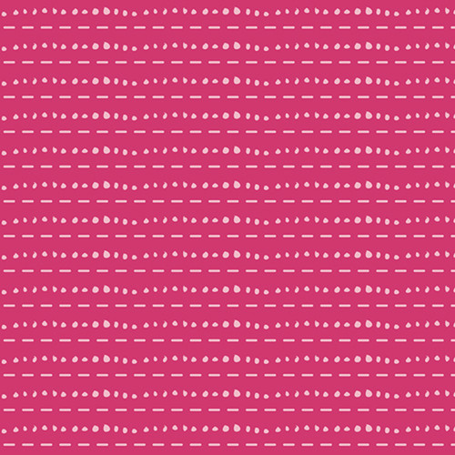 Les Points Rose Jersey Knit Fabric in Pink