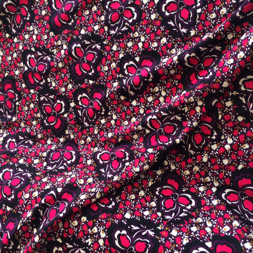 Anemone Stretch Jersey Fabric in Plum