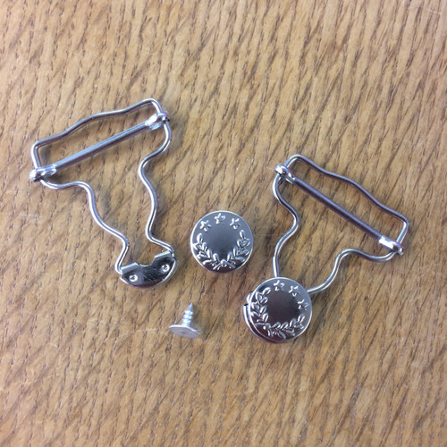 Dungaree Clips in Silver