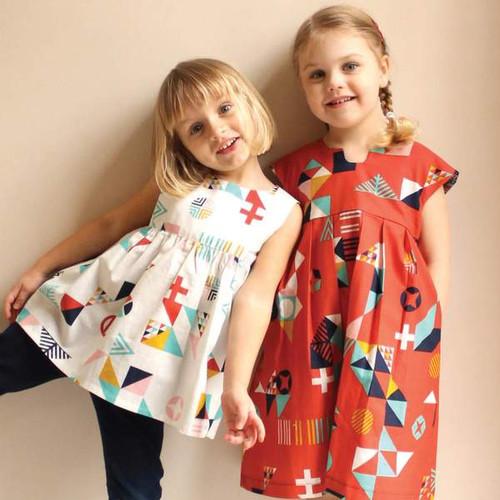 Geranium Girl's Dress Pattern 0-5 years