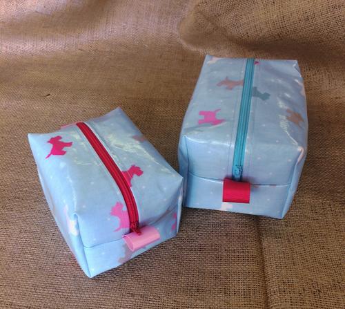 Jet, Set, Go - Oilcloth Wash Bag Sewing Kit in Alfie