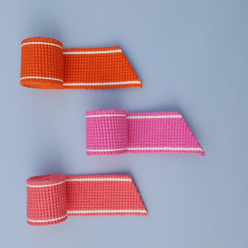 Cotton blend webbing in sunset brights