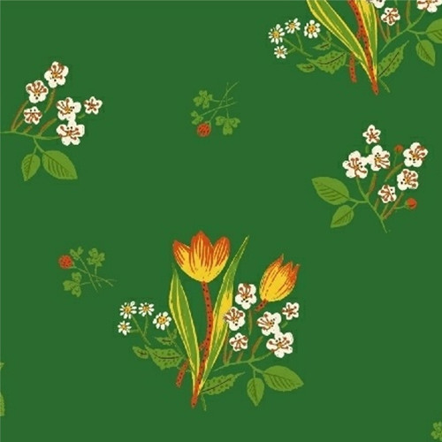 Spring Blooms in Green - Kinder by Heather Ross