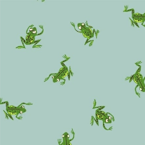 Frogs in Pale Blue - Kinder by Heather Ross