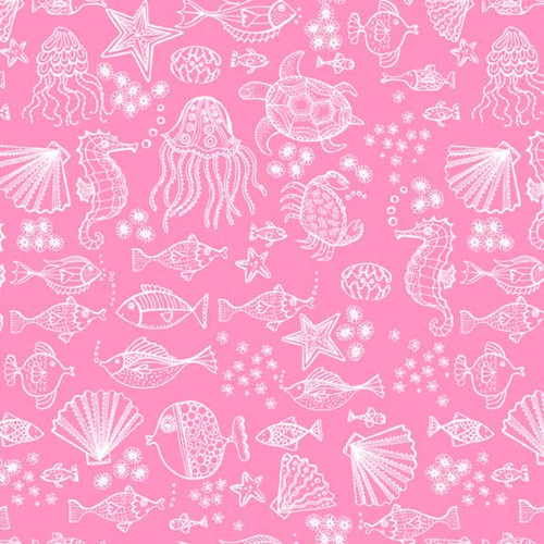 Merryn Mermaid Under the Sea in Pink