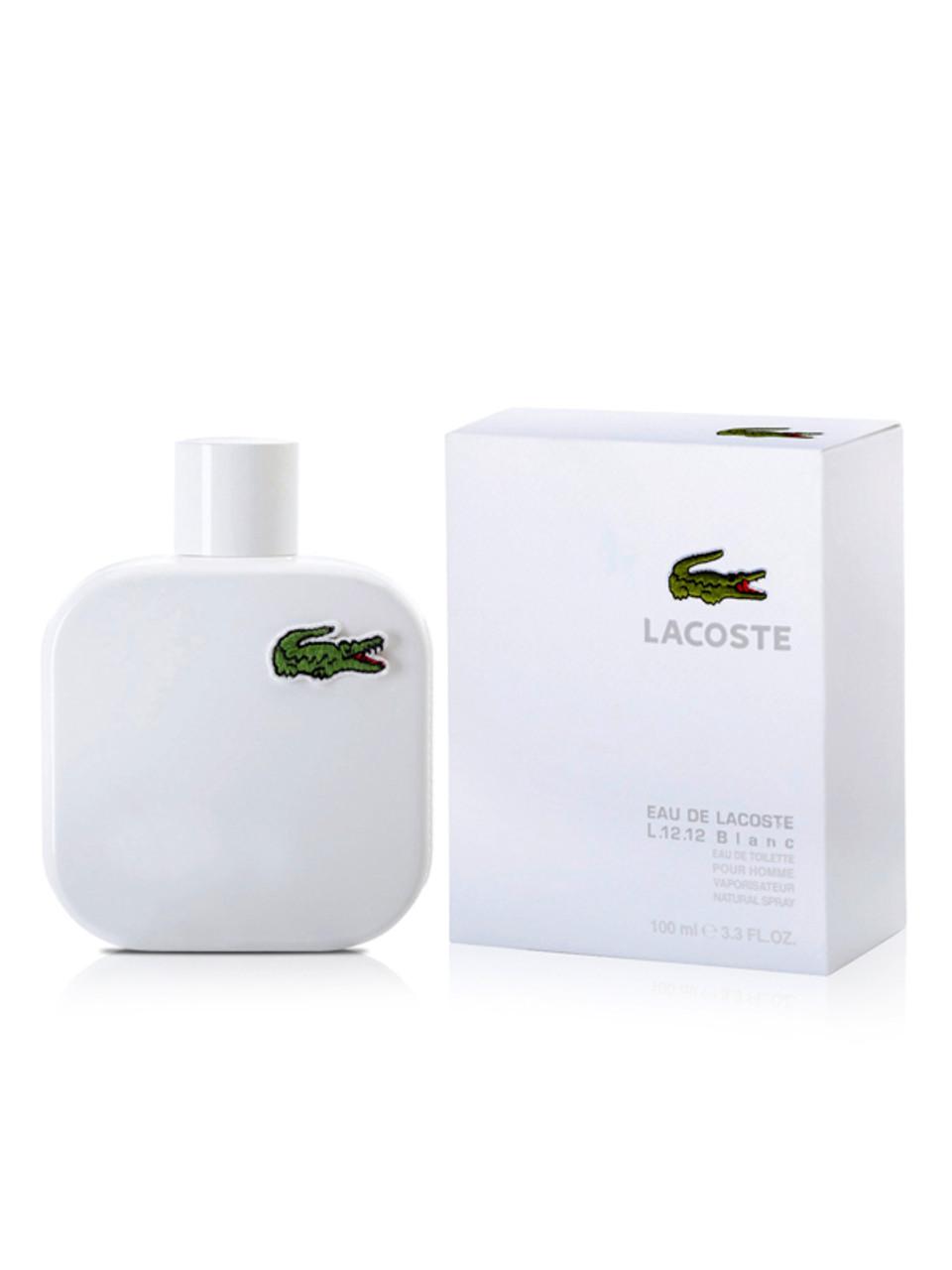 e05f329f3c80ea Eau De Lacoste L.12.12 Blanc By Lacoste For Men - Perfume X
