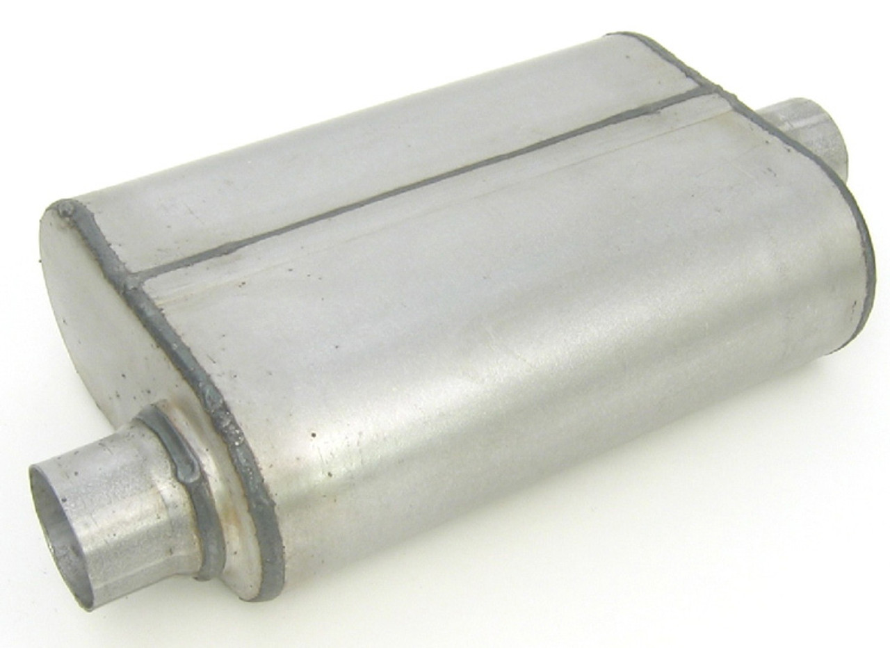 DYN17655, DUAL CHAMBER MUFFLER  2.25IN OFFSET/CENTER