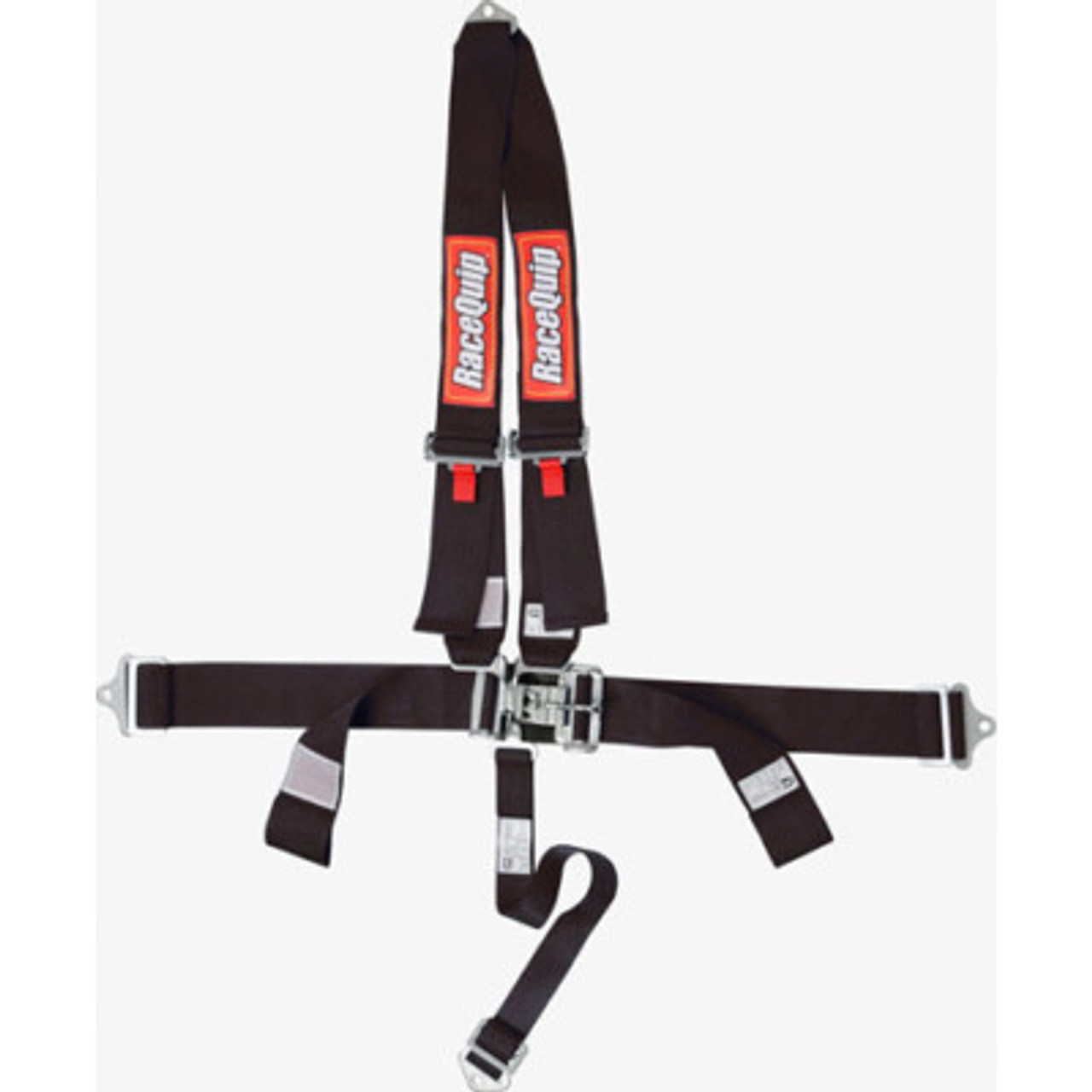 RQP713003, Harness, 4 Point, Latch and Link, SFI 16.1, Pull Down Adjust, Bolt-On / Wrap Around, V-Type Harness, Black, Kit