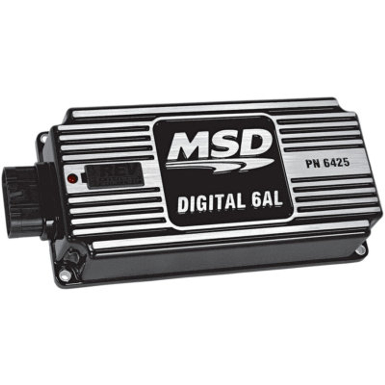 MSD64253, Ignition Box, Digital 6AL, Digital, CD Ignition, Multi-Spark, 45000V, Soft Touch Rev Limiter, Black, Each