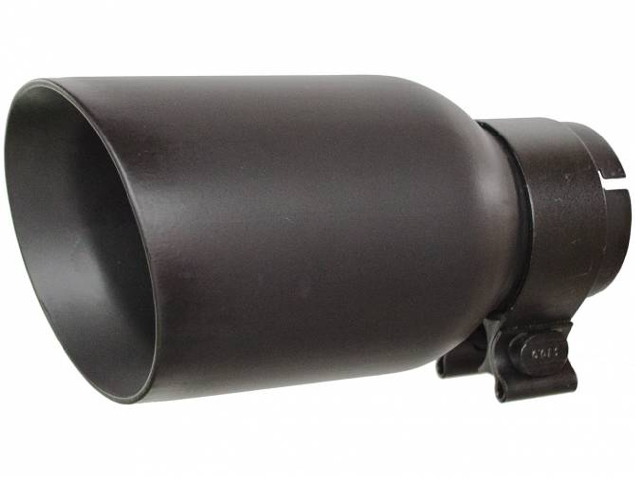 """GORGRT21248FB, TEXTURED BLACK EXHAUST TIP 4"""" OUT/ 2.5"""" INLET"""
