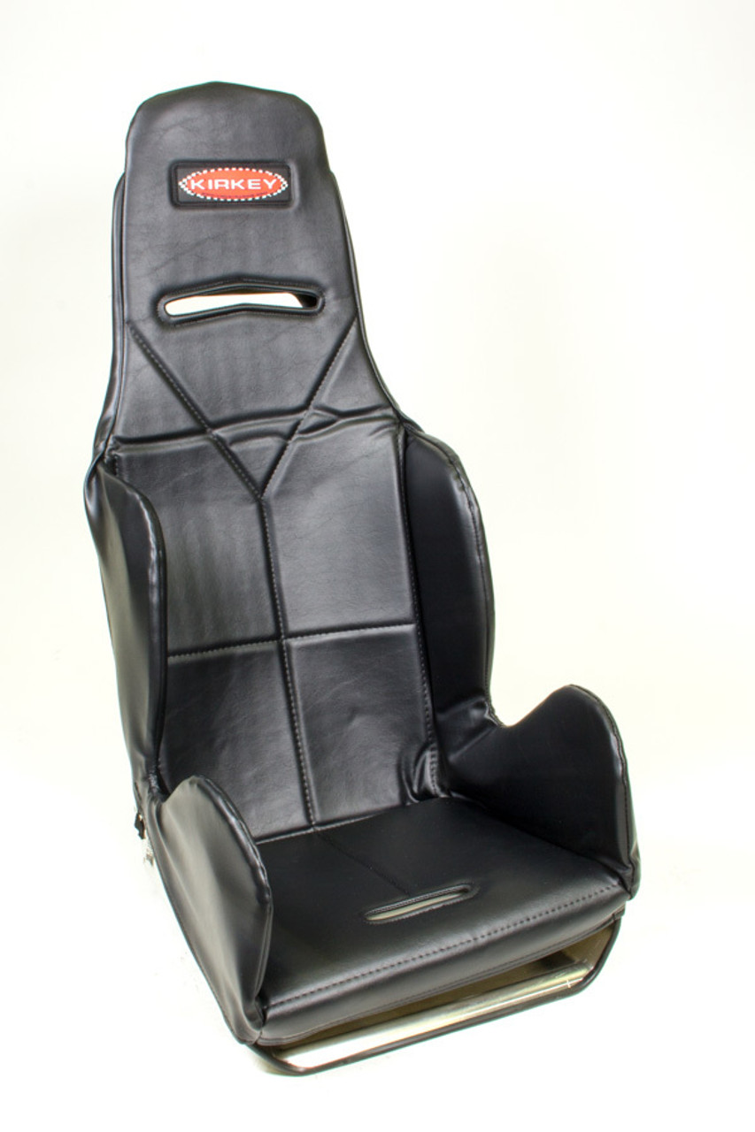 KIR16401, Seat Cover, Hook Attachment, Vinyl, Black, Kirkey 16 Series Economy Drag, 15-1/2 in Wide Seat, Each