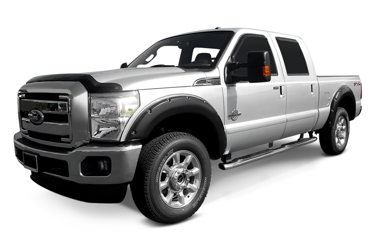 "BUS-KO-FFFRSD11, 2"" FENDER FLARES ""RIVET STYLE"" FORD SUPER DUTY (EXCL. DUALLY) 11-16"