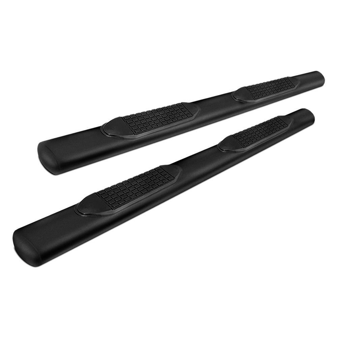 "TFXA1527B, Nerf Bar; TFX 4"" Oval Tube Side Steps; With Step Pads; 4 Inch Oval Straight"