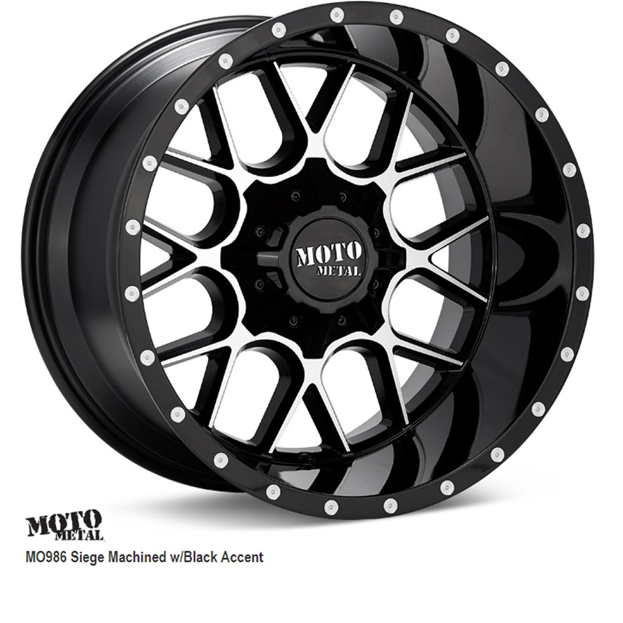 """Wheel & Tire Package Deal, MO986 MOTO METAL, 22"""" x 12"""" 8on 180, + TIRES"""