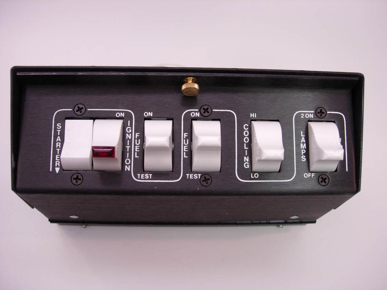 ARC3700, Switch Panel, Pro Street, Bar Mount, 8 x 2-3/8 x 2 in, 7 Rocker Switches, Fused, Aluminum, Black, Kit