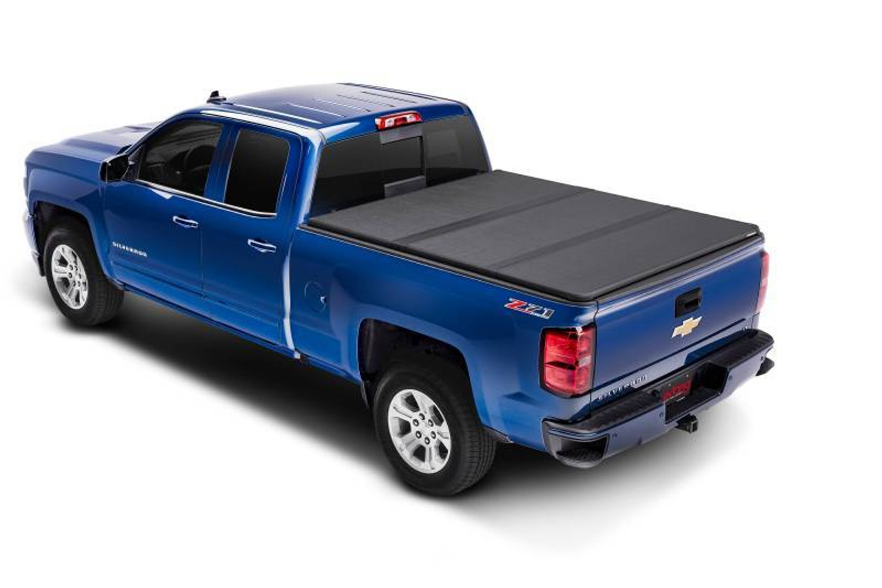 EXT83445, Tonneau Cover, Solid Fold 2.0, 5.5 ft Bed, GM Fullsize Truck 2014-17, Kit