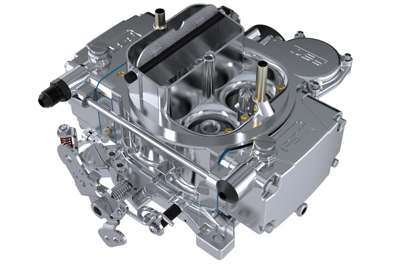FSC40600, Carburetor, RT, 4-Barrel, 600 CFM, Square Bore, Electric Choke, Vacuum Secondary, Single Inlet, Polished, Each