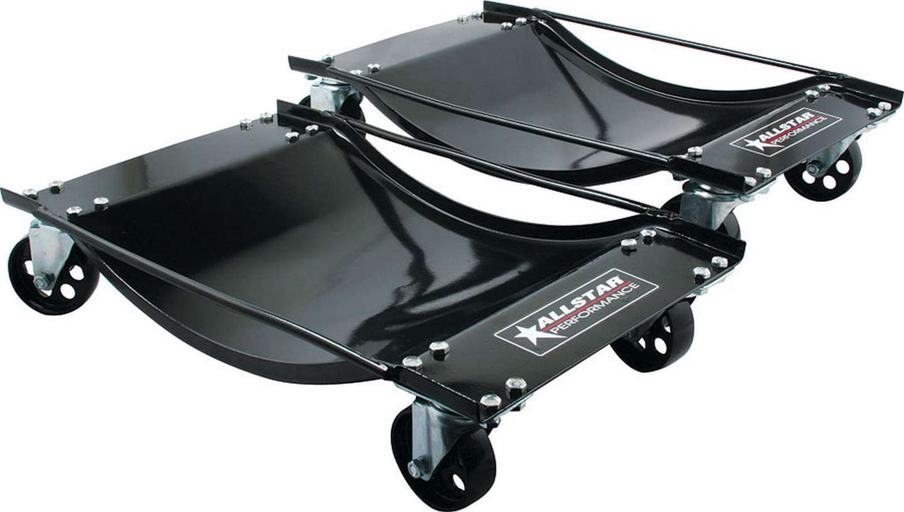 ALL10129, Wheel Dollies, 14-1/2 in Wide, 23-1/2 in Long, Vehicle Weight Up to 4000 Pounds, Steel, Black Paint, Pair