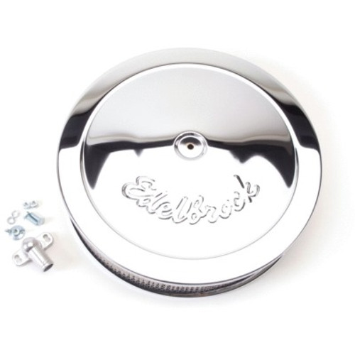 EDE1221, EDELBROCK,Air Cleaner Assembly, Pro-Flo, 14 in Round, 3-3/4 in Tall