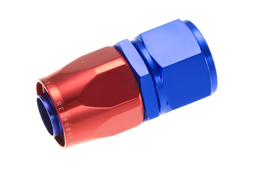 RHP1000-08-1, Hose End -08 straight female aluminum hose end - red&blue