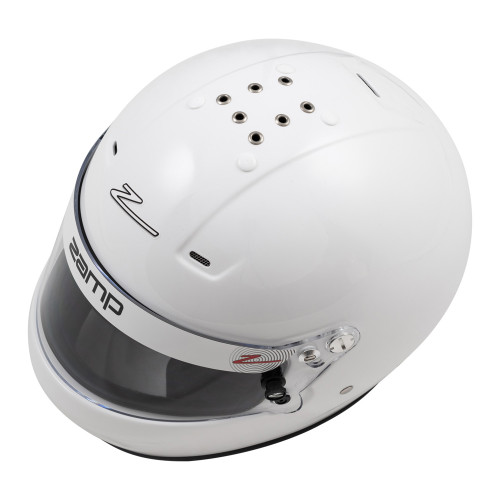 ZAMH770001L, Helmet, RZ-56, Full Face, Snell SA2020, Head and Neck Support Ready, White, Large, Each