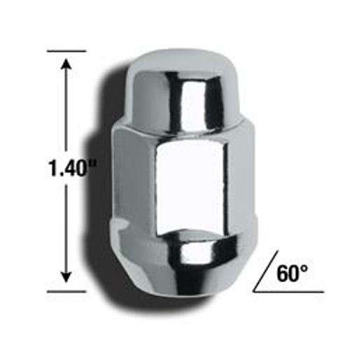 AME41188, LUG NUT 1/2 ACORN BULGE 3/4IN HEX