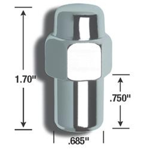 AME73188, LUG NUT 1/2 STD MAG  CLOSED END
