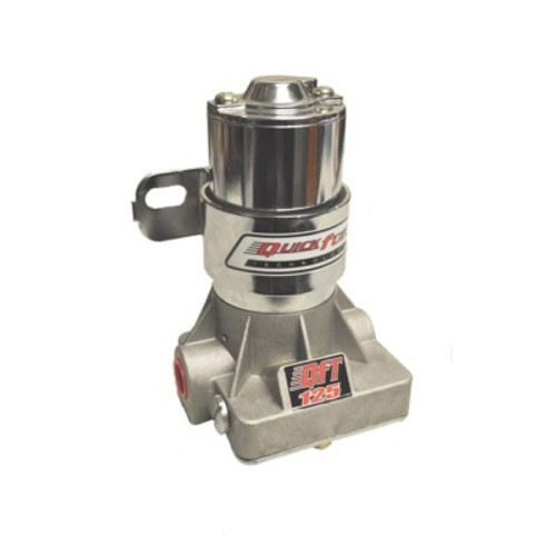 Fuel Pump, Electric, In-Line, 125 gph at 14 psi, 3/8 in NPT Inlet, 3/8 in NPT Outlet, Silver, Gas, Each