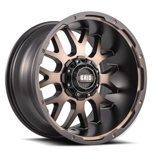 """GIDGD0220090635D1587, New from GRID WHEELS, GRID,GD02; 20""""x"""