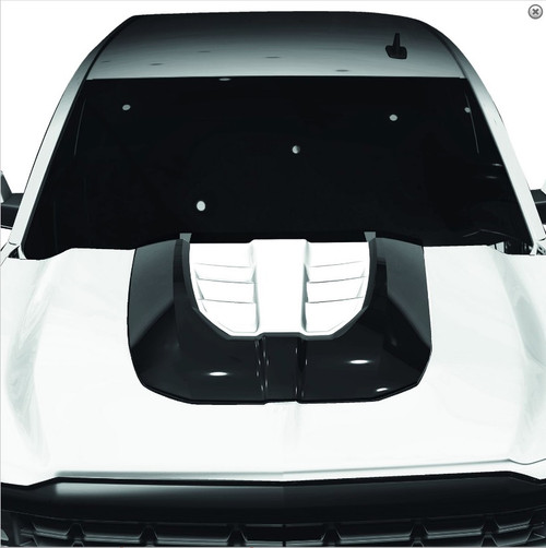 ADE1129CPNUGM24A28, Hood Scoop, SUPER RIM Non Vented; Satin Black