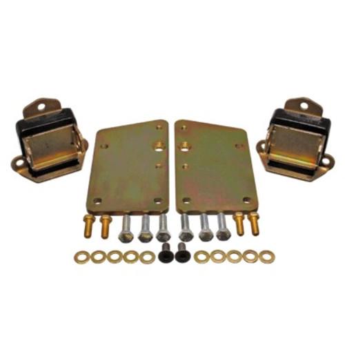 ENE3-1148G, Motor Mount, Hyper-Flex, Bolt-On, Conversion, 2-5/8 Wide Mount, Polyurethane / Steel, Black / Zinc Oxide, GM LS-Series, Kit