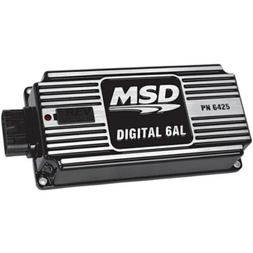 MSD64253, Ignition Box, Digital 6AL, Digital, CD Ignition, Multi-Spark, 45000V, Soft Touch Rev Limiter, Black, Each