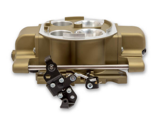 HLY550-869, Rochester Quadrajet™ (Q-Jet) 4-Barrel Fuel Injection Conversion - Self-Tuning System with Handheld EFI Controller - Classic Gold Finish