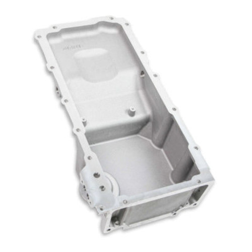 HLY302-2,Engine Oil Pan, Retro-Fit, Rear Sump, 6-1/8 qt, 5-7/16 in Deep, Cover / Pick-Up Tube / Stud / Sump Port Plug / Tray, Aluminum, Natural, GM LT-Series, Kit