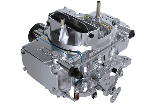 FSC40600, Carburetor, RT, 4-Barrel, 600 CFM, Square Bore, Electric Choke, Vacuum Secondary, Single Inlet, Polished, Each