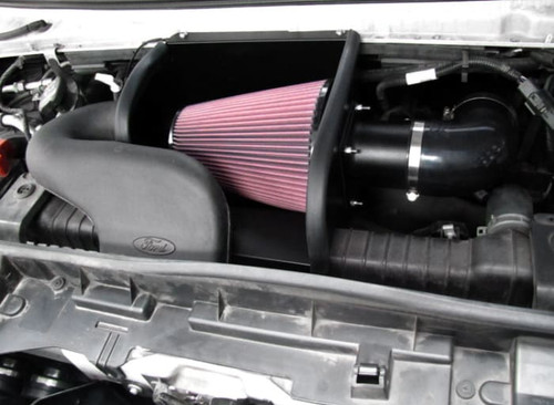 KNE77-2570KTK, Cold Air Intake; 77 Series, Black Alum, Red Filter; With Heat Shield