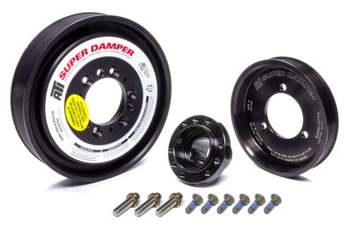 ATI918485, Harmonic Balancer, Serpentine Super Damper, 8.870 in OD, SFI 18.1, Aluminum / Steel, Black, Internal Balance, Mopar Gen III Hemi, Each