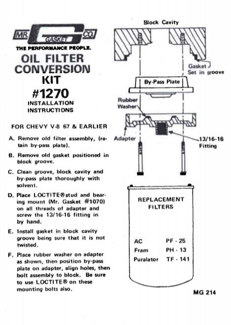 MRG1270, OIL FILTER ADAPTER
