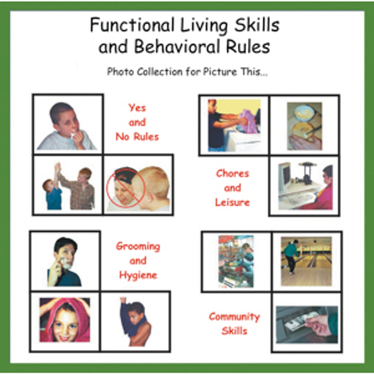 Functional Living Skills/Behavioral Rules Software 1,000+ Pictures