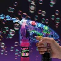LED Light Up Bubble Gun