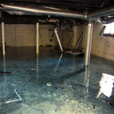 Concrete Walls with Water Damage