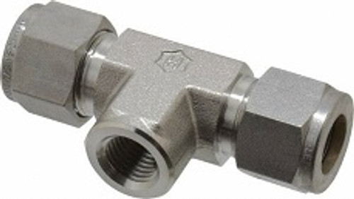 Stainless Steel Compression Branch Tee FNPT